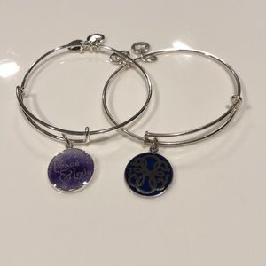 TWO (2!!) GOOD VIBES Alex and Ani Bracelets